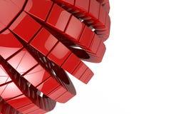 Il fondo geometrico astratto 3d dei cubi rende Immagine Stock