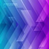 Il fondo geometrico astratto di pendenza di colore della diagonale blu e porpora di tecnologia con le grandi frecce firma la tecn royalty illustrazione gratis