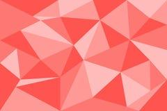 Il fondo geometrico rosso astratto del poligono compone dal triangolo SH Fotografie Stock Libere da Diritti