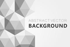 Il fondo grigio astratto, poli triangolo strutturato basso modella nel modello casuale, lowpoly fondo d'avanguardia Immagine Stock Libera da Diritti
