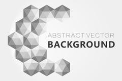 Il fondo grigio astratto, poli triangolo strutturato basso modella nel modello casuale, lowpoly fondo d'avanguardia Fotografie Stock Libere da Diritti
