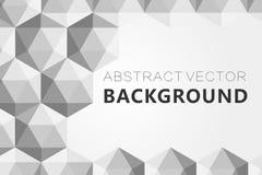 Il fondo grigio astratto, poli triangolo strutturato basso modella nel modello casuale, lowpoly fondo d'avanguardia Immagini Stock