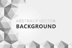 Il fondo grigio astratto, poli triangolo strutturato basso modella nel modello casuale, lowpoly fondo d'avanguardia Fotografie Stock