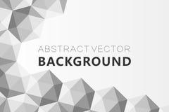 Il fondo grigio astratto, poli triangolo strutturato basso modella nel modello casuale, lowpoly fondo d'avanguardia Fotografia Stock