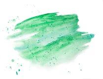 Il fondo ha dipinto con una spazzola degli acquerelli isolati su bianco Fondo dell'acquerello per progettazione Progettista alla  royalty illustrazione gratis