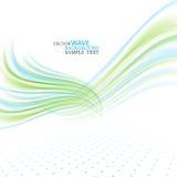 Il fondo, il blu ed il verde astratti dell'onda di vettore hanno ondeggiato le linee per l'opuscolo di progettazione, il sito Web Immagine Stock Libera da Diritti