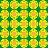 Il fondo luminoso di Geen con giallo del theb fiorisce sopra Fotografia Stock Libera da Diritti
