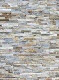 Il fondo, modello del muro di mattoni di pietra moderno bianco è sorto Immagini Stock Libere da Diritti