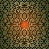 Il fondo ornamentale tradizionale con i sei cuori rotondi forma la struttura royalty illustrazione gratis