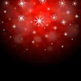 Il fondo rosso dei fiocchi di neve significa la carta da parati di stagione invernale Fotografia Stock Libera da Diritti
