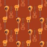 Il fondo senza cuciture del modello ha messo insieme lo strumento classico del suono di arte dell'orchestra degli strumenti music royalty illustrazione gratis