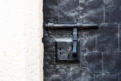Il fondo strutturato annata astratta con un fermo e una serratura combinati avvita la struttura di ruggine e di gesso Immagine Stock Libera da Diritti