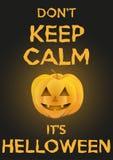 Il fondo tiene la calma con la zucca per Halloween Fotografia Stock