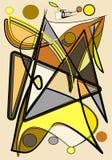 Il fondo variopinto astratto, immagina le forme curve su beige, verticale Immagini Stock Libere da Diritti
