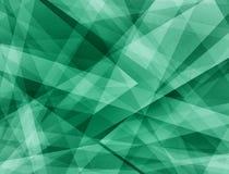 Il fondo verde astratto con i triangoli e le forme di rettangolo stratificate in arte moderna contemporanea progettano royalty illustrazione gratis