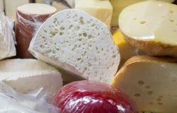 Il formaggio georgiano del ` di Guda del ` e un altro formaggio da vendere immagini stock libere da diritti