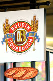 Il forno di Boudin firma dentro San Francisco Fisherman Wharf California Fotografia Stock