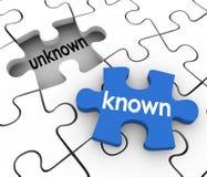 Il foro sconosciuto conosciuto del pezzo di puzzle compila le informazioni dentro di sig.na illustrazione vettoriale
