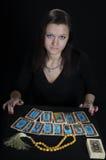 Il fortuneteller della donna Fotografie Stock