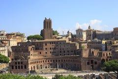 Il forum di Traiano a Roma antica, Italia Fotografia Stock