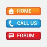 Il forum domestico variopinto e ci chiama bottoni Immagini Stock Libere da Diritti
