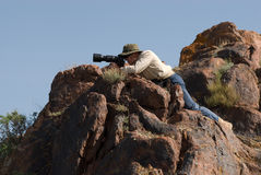 Il fotografo cattura le maschere Immagine Stock Libera da Diritti