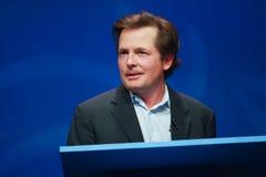 Il Fox del Michael J. dell'attore trasporta un indirizzo Immagine Stock