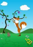 Il Fox e l'uva   illustrazione di stock