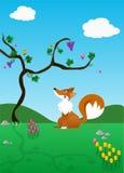 Il Fox e l'uva - I    royalty illustrazione gratis
