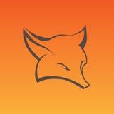 Il Fox firma dentro le linee della curva Immagine Stock Libera da Diritti