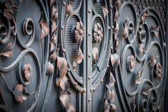 Il frammento dei prodotti metallici forgiati Primo piano Fotografia Stock Libera da Diritti