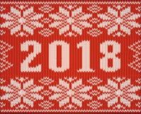 Il frammento del saltatore di Natale con 2018 nuovi anni ha tricottato la struttura, Fotografia Stock