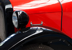 Il frammento di vecchia automobile Fotografia Stock