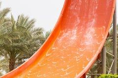 Il frammento fa scorrere in Aqua Park immagine stock