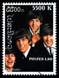 Il francobollo di Beatles Immagine Stock