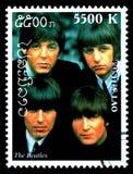 Il francobollo di Beatles Fotografia Stock