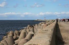 Il frangiflutti nordico Baltiysk fino al 1946 - Pillau, il Kal immagini stock libere da diritti