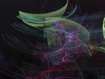 Il frattale astratto di Digital, scientifico creativo di idea rende il lustro etereo, decorativo magico vibrante, elegante illustrazione vettoriale