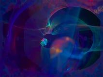 Il frattale astratto di Digital, sogno di idea creativo rende il lustro etereo, decorativo magico vibrante, elegante illustrazione vettoriale