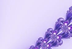 Il frattale diagonale operato del nastro nello scintillio porpora piacevole, somigliante fiorisce Spazio del testo Per le progett Immagine Stock Libera da Diritti