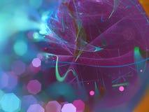Il frattale digitale astratto, rende lo stile futuristico della carta da parati di fantasia etereo, partito illustrazione vettoriale