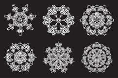 Il frattale etnico Mandala Vector Meditation assomiglia al fiocco di neve o Fotografia Stock Libera da Diritti