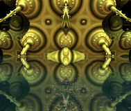 Il frattale quattro fa la rappresentazione geometrica astratta di composition-3d Fotografia Stock Libera da Diritti