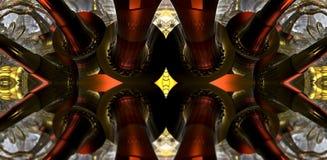 Il frattale quattro fa la rappresentazione geometrica astratta di composition-3d Immagini Stock