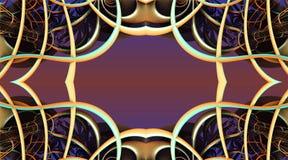 Il frattale quattro fa la rappresentazione geometrica astratta di composition-3d Fotografie Stock