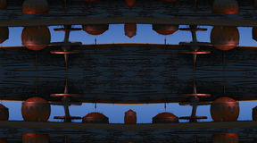 Il frattale quattro fa la rappresentazione geometrica astratta di composition-3d Fotografia Stock
