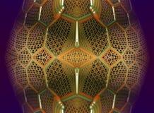 Il frattale quattro fa la rappresentazione geometrica astratta di composition-3d Fotografie Stock Libere da Diritti