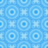Il frattale senza cuciture blu ha basato le mattonelle con una progettazione circolare fine della mandala Immagine Stock