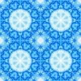 Il frattale senza cuciture blu ha basato le mattonelle con una progettazione della mandala Immagini Stock Libere da Diritti