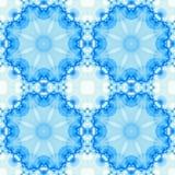 Il frattale senza cuciture blu ha basato le mattonelle con una progettazione rotonda della mandala Fotografia Stock Libera da Diritti
